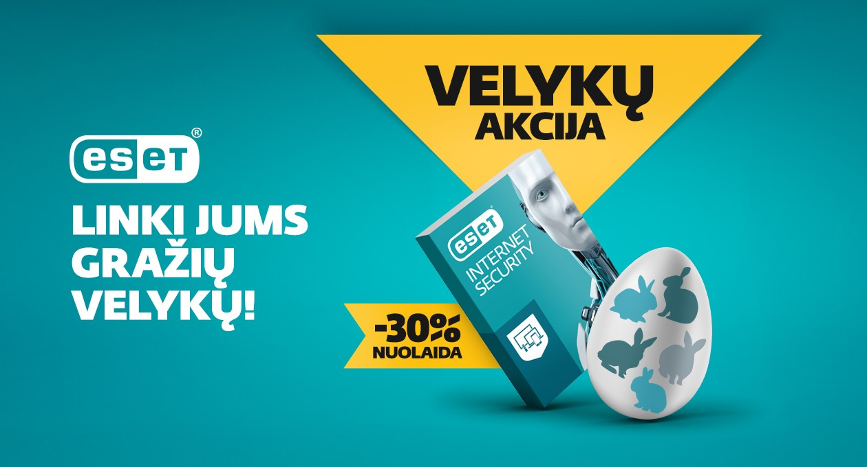 ESET Internet Security Velykonė akcija!